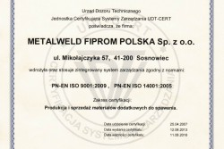 EN ISO 9001:2009 i EN ISO 14001:2009