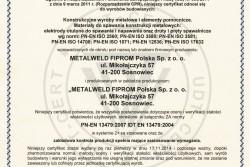 Certyfikat Zakładowej Kontroli Produkcji ZKP
