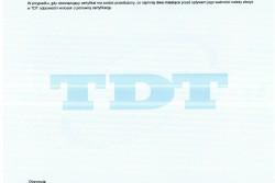 Certyfikat Zakładowej Kontroli Produkcji zgodnie z normą PN-EN 12074